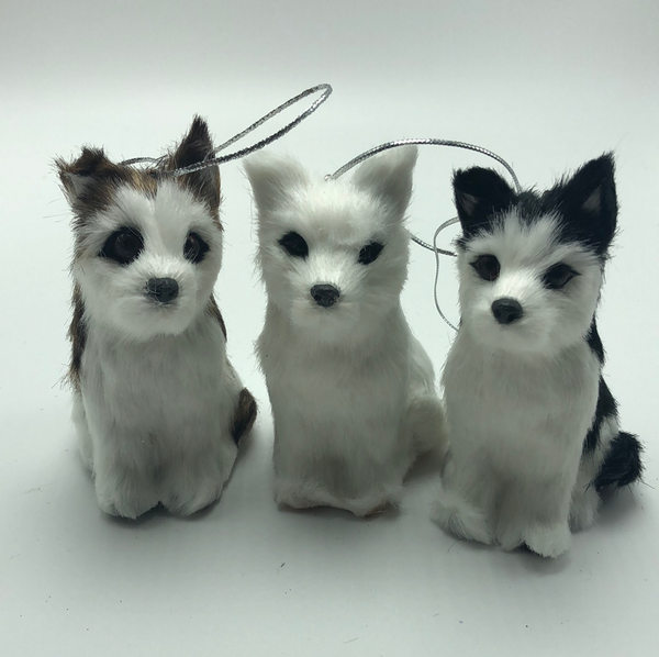 "4""  Dog Ornament Set (3 in set)"