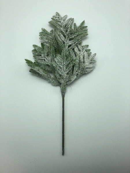 "16"" Frosted Forest Pine Pick  SKU L-1144"