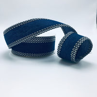 "1.5"" Denim Check Wired Edge Ribbon  SKU 92618W-984-09F"