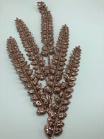 "33"" Glitter Feather Spray-Rose Gold  SKU T-1151"