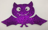 "9"" Glitter Bat Ornament- Purple  SKU 52351-P"
