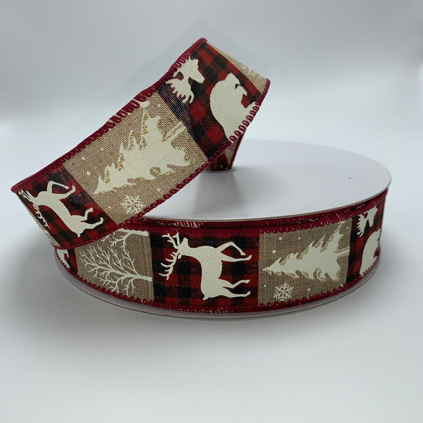 "1.5"" x 50YD Deer/Moose/Bear/Tree Ribbon - TR94809-713"