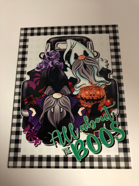"Artisan Made-Exclusive  ""All about the Boos"" Sign"