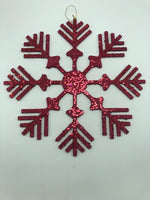 "8"" Snowflake Ornament  SKU M117405"