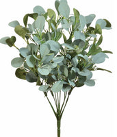 "18"" Seeded Eucalyptus Bush-Gray/Green SKU 13380GYGN"