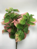 "21"" Hydrangea Leaf Bush- Green/Pink  SKU 265683"