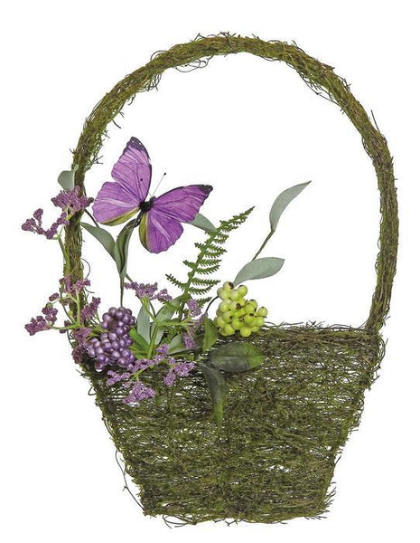 "14.5"" Mixed Berry & Butterfly Wall Basket  SKU PM1507-MIX"