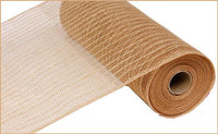 "10"" Poly Jute Mesh- Natural SKU RY800518"