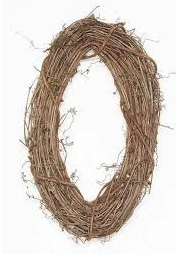 "24"" Grapevine Wreath-Oval SKU 240VW"