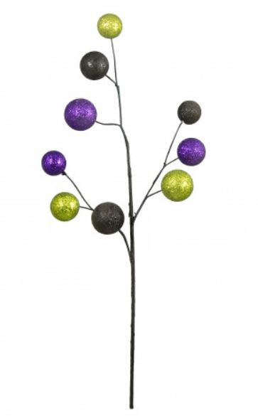 "21"" Glitter Ball Spray- Purple/Lime/Black SKU XS5739MH"