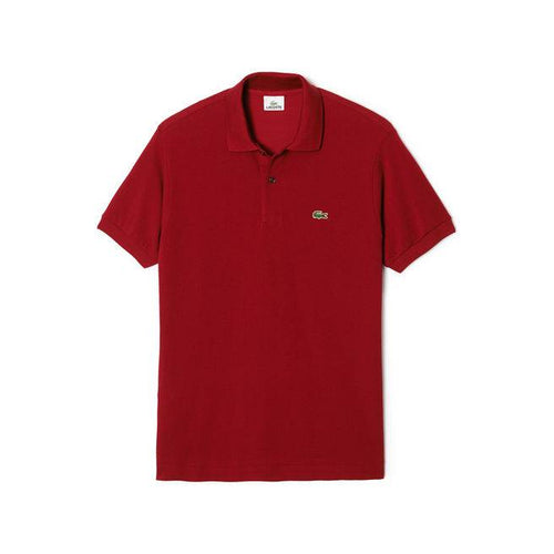 Short Sleeve Classic Pique Polo Shirt (Bordeaux)