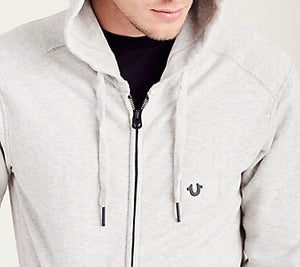 Hooded JKT Horseshoe Jet (Heather Grey)