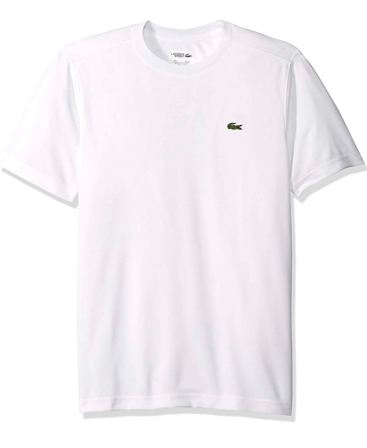 Sport Short Sleeve Solid Ultra Dry Tee Shirt (White)