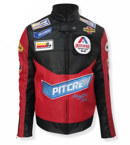 SM Leather Biker Jacket (Kentucky Red)