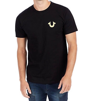 Metallic Gold Buddha Tee (Black)