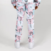 Load image into Gallery viewer, Scribbles V2 Denim Pant In White