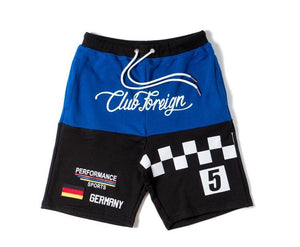 Club Foreign Performance T-Shirt and Shorts Set Blue/Black
