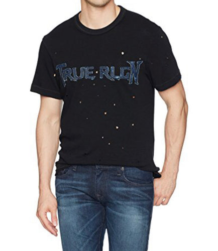Denim Applique Graphic Tee