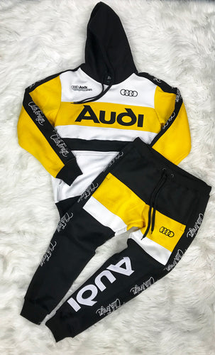 ClubForeign Audi Embroidered Sweatsuit (Yellow/Black/White)