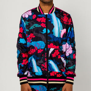 Japanese Garden Track Jacket in Black
