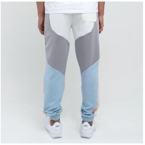 Bold Track Pant in Blue/Pink