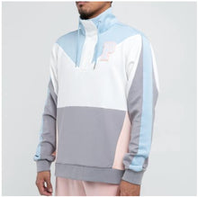 Load image into Gallery viewer, Bold Track Half Zip in Blue/Pink