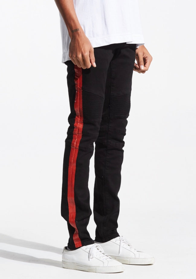 Racer Biker Denim (Jet Black)