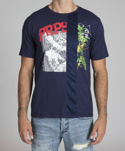 Load image into Gallery viewer, Mixed Media Tee (Navy)