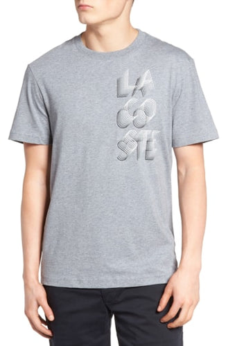 3D Lacoste Graphic Tee (Chine Platinum/White)