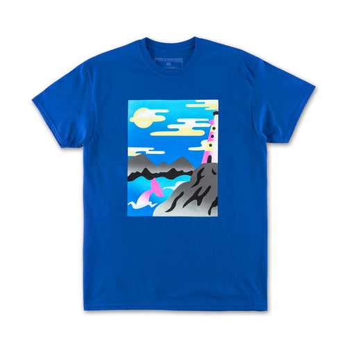 Dolphin Bay Tee in Blue