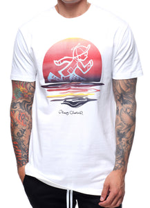 Sunset Jack SS Tee In White
