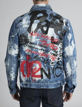 Load image into Gallery viewer, Graffiti Denim Jacket