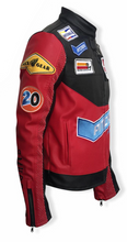 Load image into Gallery viewer, SM Leather Biker Jacket (Kentucky Red)
