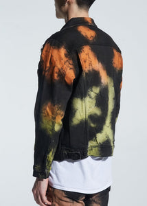 Walker Denim Jacket (Rasta Tye Die)