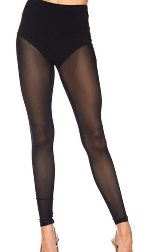 All Mesh Sheer Leggings (Available in Black and Royal Blue)