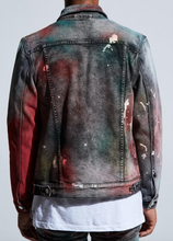 Load image into Gallery viewer, Hunter Denim Jacket (Tie Dye Paint Wash)
