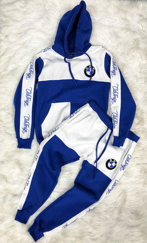 ClubForeign BMW Embroidered Sweatsuit (Blue/White)