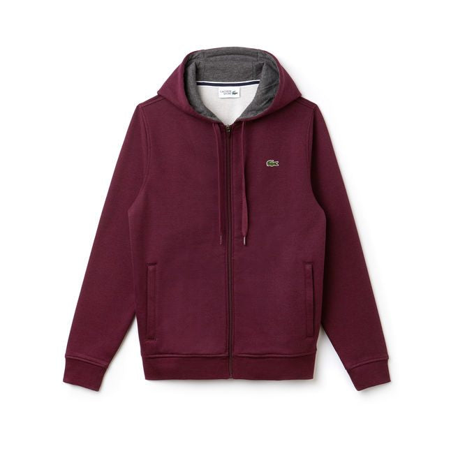 Sport Full Zip Hoodie Fleece Sweatshirt (Grape Vine)