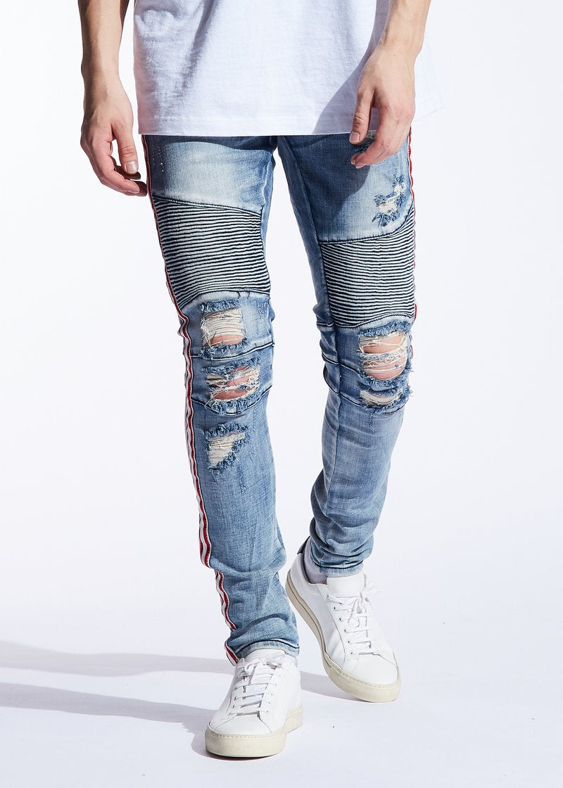 Khalil Biker Denim (Blue)