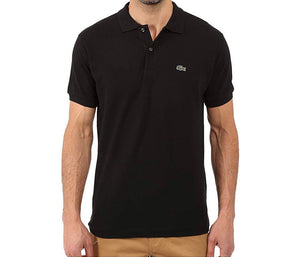 Short Sleeve Classic Pique Polo Shirt (Black)