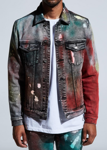 Hunter Denim Jacket (Tie Dye Paint Wash)