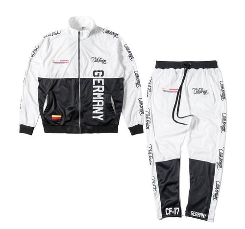 Performance Sports Suit Set Jacket and Pants Germany White