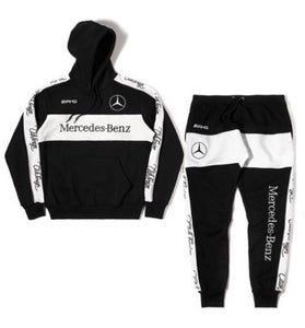 ClubForeign Mercedes Benz Embroidered Sweatsuit (Black/White)