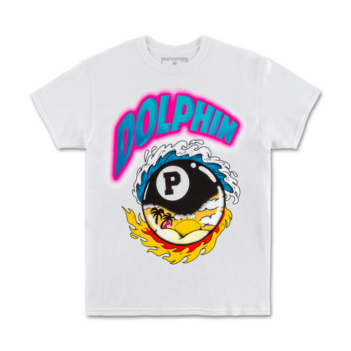 8-Ball Tropics Tee in White