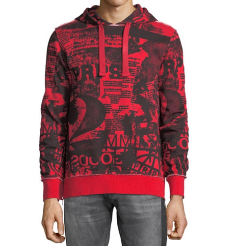 Graphic Hoodie with Side Zips