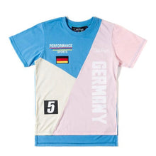 Load image into Gallery viewer, Club Foreign Performance T-Shirt and Shorts Set Blue/Pink/Beige