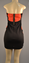 Load image into Gallery viewer, Black/Orange Mini Dress