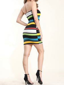 Multicolored mini dress