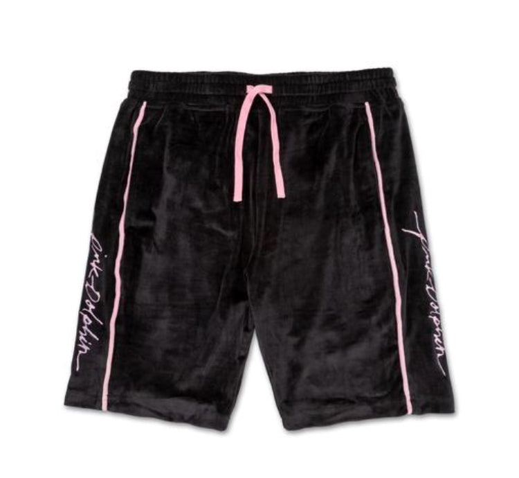 Cool Out Velour Short in Black
