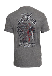 Indian Chief Graphic Tee (Grey)